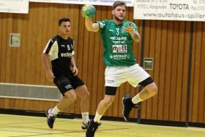 Bild, (Jutta Muck): Trotz seiner zwölf Treffer konnte auch Viktor Bodo´ die Niederlage der HSG nicht verhindern.