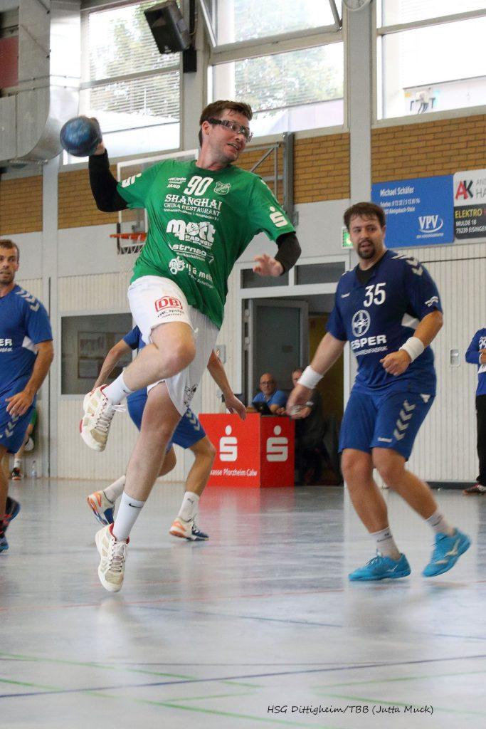Archivbild: Jutta Muck: Max Engert zeigte ein gutes Spiel und erzielte 5 Treffer, doch auch er konnte die Niederlage in Eggenstein nicht verhindern.