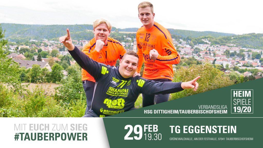 HSG möchte ihren positiven Lauf fortsetzen. Heimspiel am 29.02.2020 gegen die TG Eggenstein