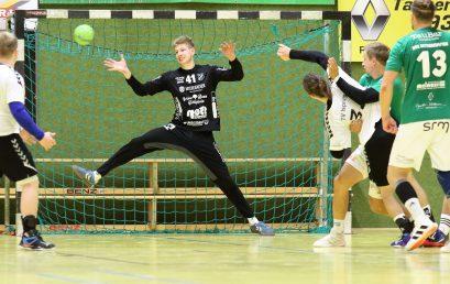 Goalie Ove Villmann rettet einen Heimpunkt